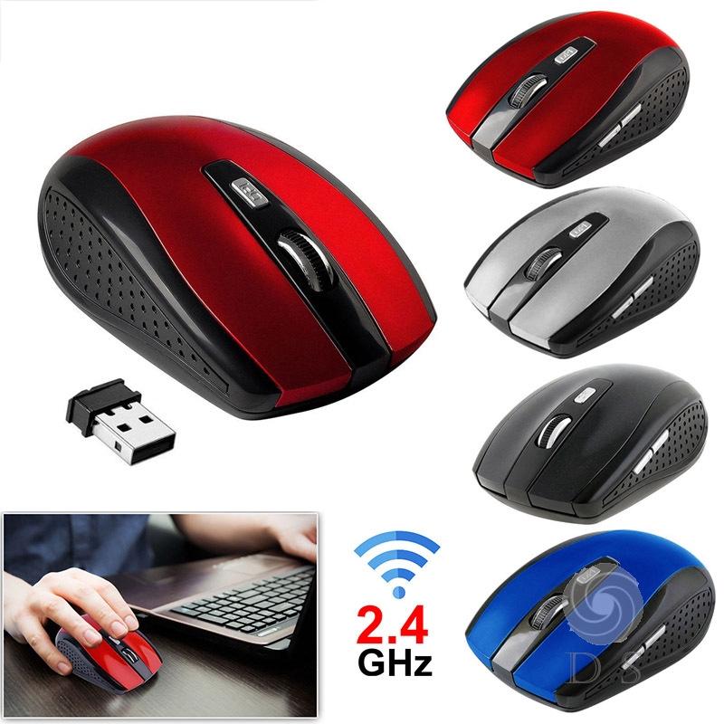 Chuột quang không dây 2.4GHz kèm đầu nhận USB 2.0 cho máy tính