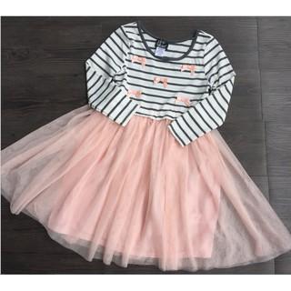 Váy cotton dài tay, chân váy xòe Pink Violet size 2t