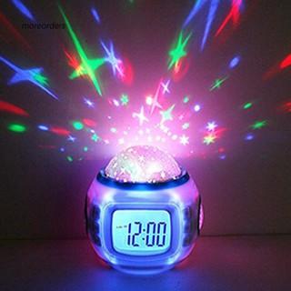 Đồng hồ điện tử có máy chiếu đèn LED hình bầu trời sao đẹp mắt kèm phát nhạc độc đáo dành cho phòng trẻ