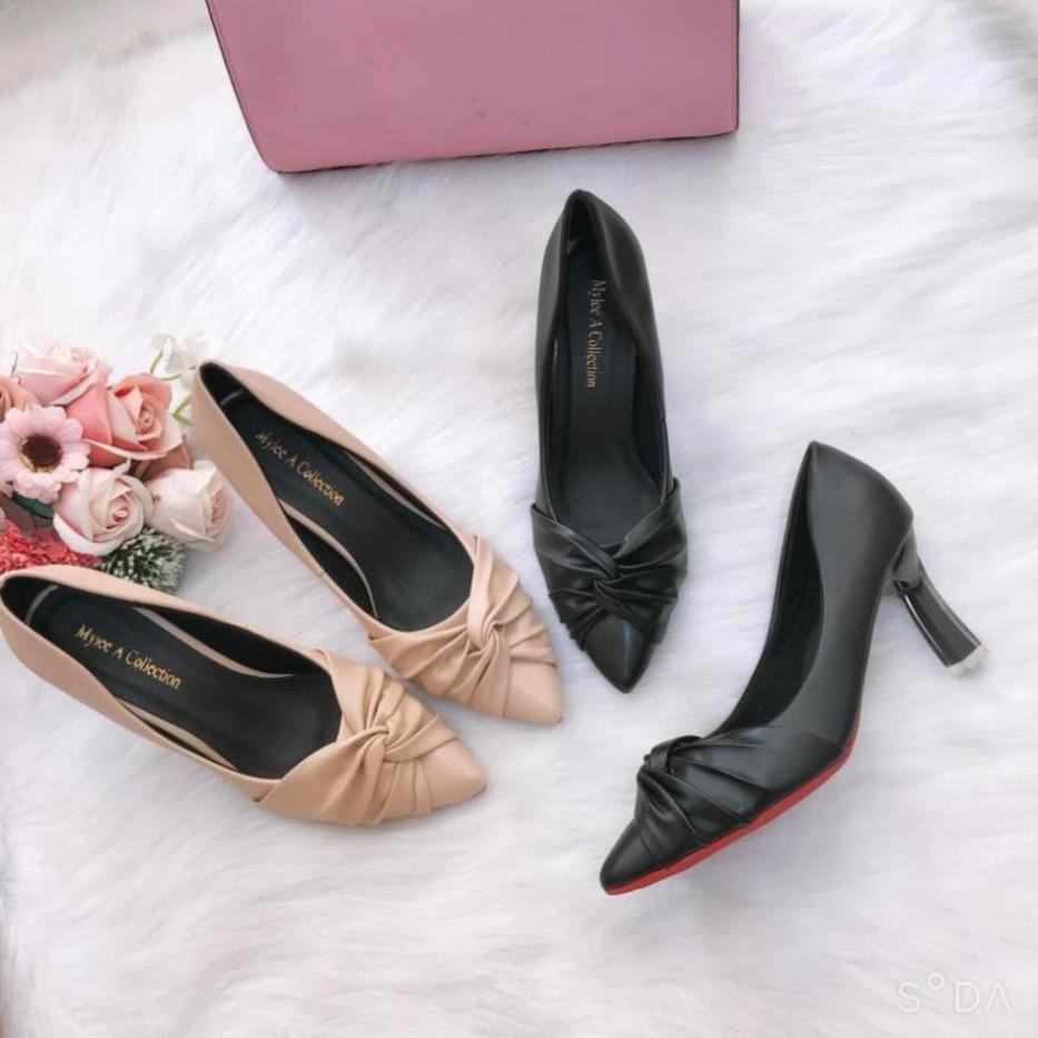 Giày cao gót 💥HÀNG HOT💥giày cao gót nữ 7 cm cách điệu êm mềm, chống trượt [HÀNG SẴN]