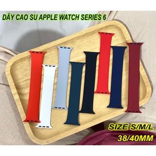 [Mã ELORDER5 giảm 10K đơn 20K] Dây cao su Apple Watch Series 6 Solo Loop 42/44mm, size S/M/L