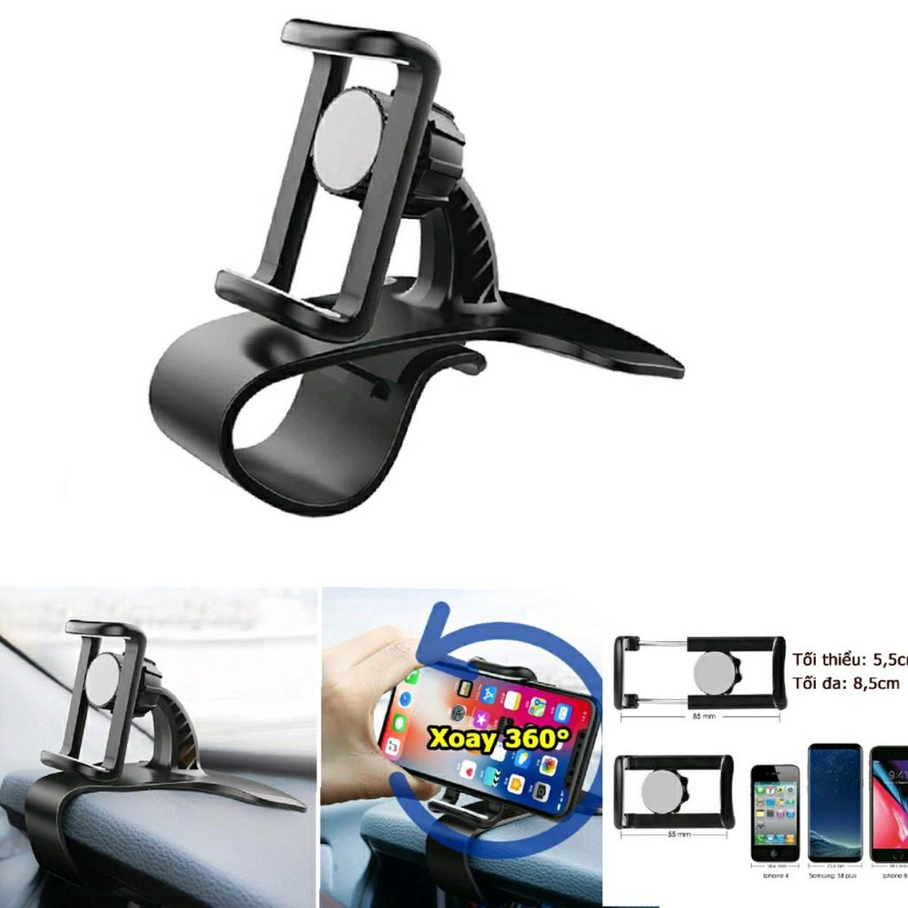 Kẹp điện thoại trên ô tô giá đỡ điện thoại trên ô tô an toàn chắc chắn có thế xoay 360 độ