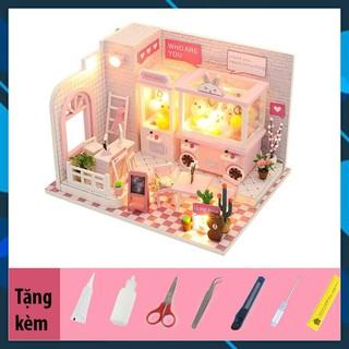 Mô hình nhà búp bê gỗ DIY Nhà búp bê lắp ghép Tiệm gắp thú bông Dorami C009Z Toy World thumbnail
