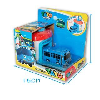 GENX✨ Cartoon TaYo the Little Bus One Piece Araba Oyuncak Garage Car Toy Model
