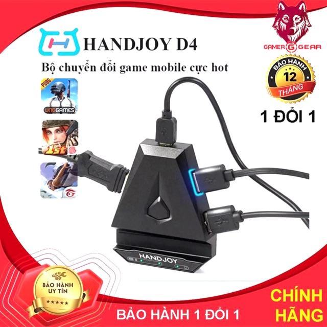 Handjoy D4 Bộ chuyển đổi bàn phím chuột cho điện thoai chơi game PUBG, Call of Duty và các game FPS khacd