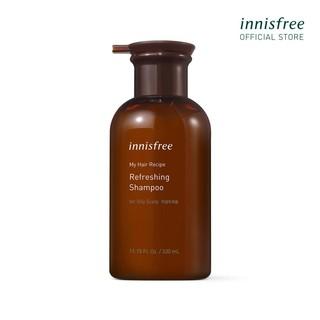 Dầu gội cho da dầu innisfree My Hair Recipe Refreshing Shampoo For Oily Scalp 330ml thumbnail