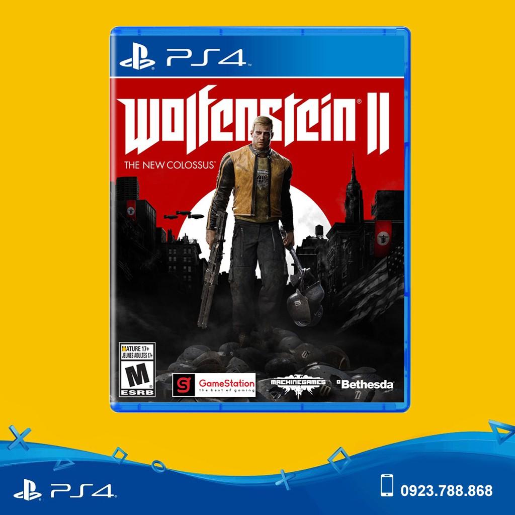 [Freeship toàn quốc từ 50k] Đĩa Game PS4: Wolfenstein II: The New Colossus - hệ US