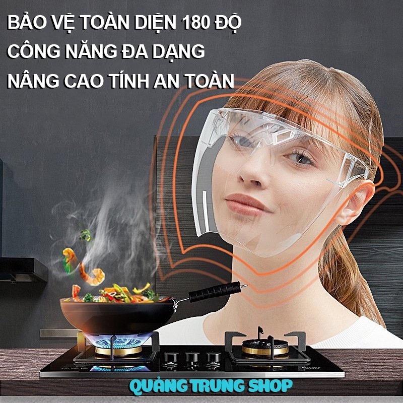 [Cao Cấp] Kính Chống Giọt Bắn Phòng Dịch FACE SHIELD Trong Suốt - Kính Bảo Hộ ngăn bụi mịn