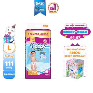 Hình ảnh [Tặng 1 Bobby's Friend Box] Tã quần Bobby siêu thoáng bịch Mega Jumbo M120/L111/XL102/XXL93-3