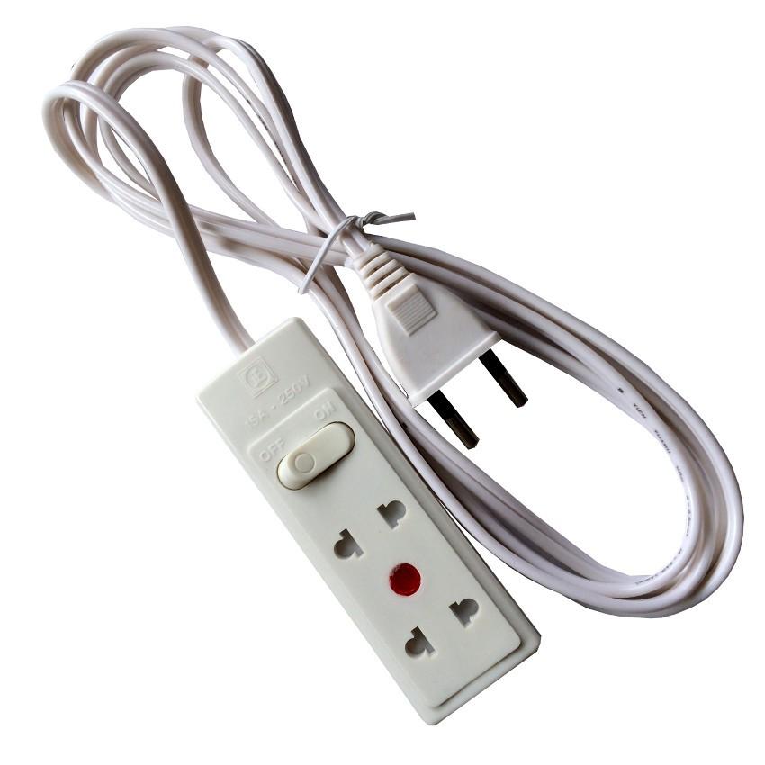 Ổ cắm điện mini Tiến thành 2 ổ cắm dây dài 2.5 mét