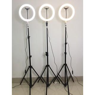 [CÓ SẴN] Đèn Led Livestream 26cm – TẶNG KÈM kẹp điện thoại 120k – Bao sáng