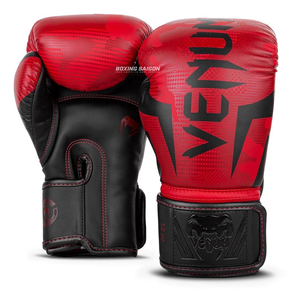 Găng tay boxing Venum Elite chính hãng - Red/Camo