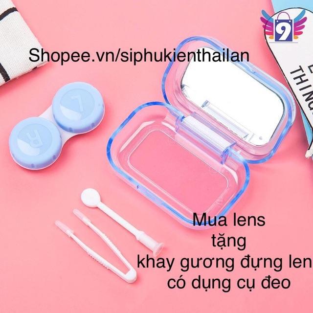 1 cặp Lens áp tròng Hàn Quốc CÓ ĐỘ CẬN 20 mẫu