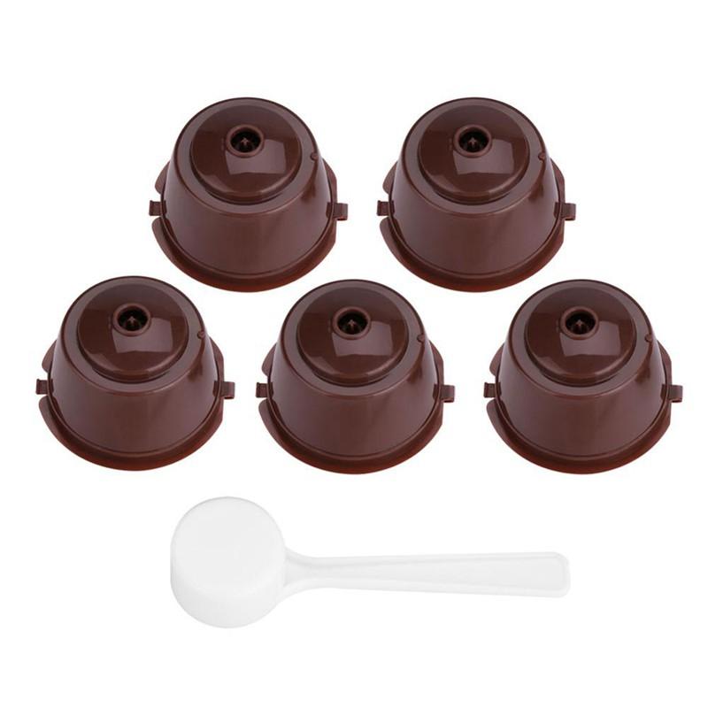 5Pcs Reusable Refillable Capsules For Nescafe Capsula Maker Nespresso