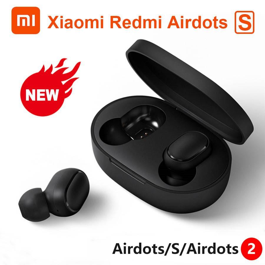 Tai Nghe Không Dây Bluetooth 5.0 Điều Khiển Bằng Giọng Nói Chống Ồn Xiaomi Redmi Airdots Aitdot S Airdots 2