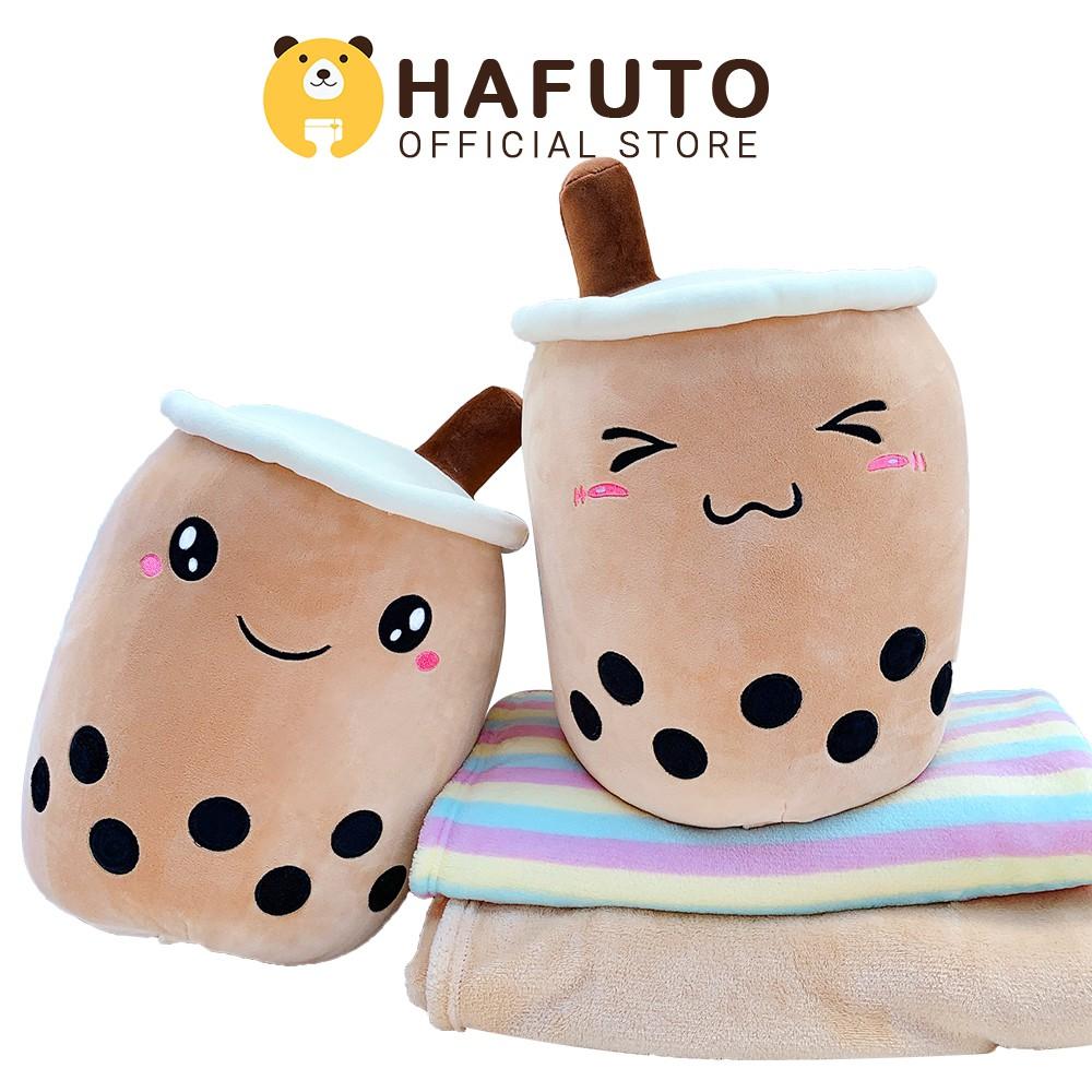 Gối mền văn phòng HAFUTO 3in1 hình ly trà sữa trân châu hàng nhập cao cấp size