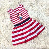 Váy bé gái cotton sọc dệt nhiều màu 8-26kg J153