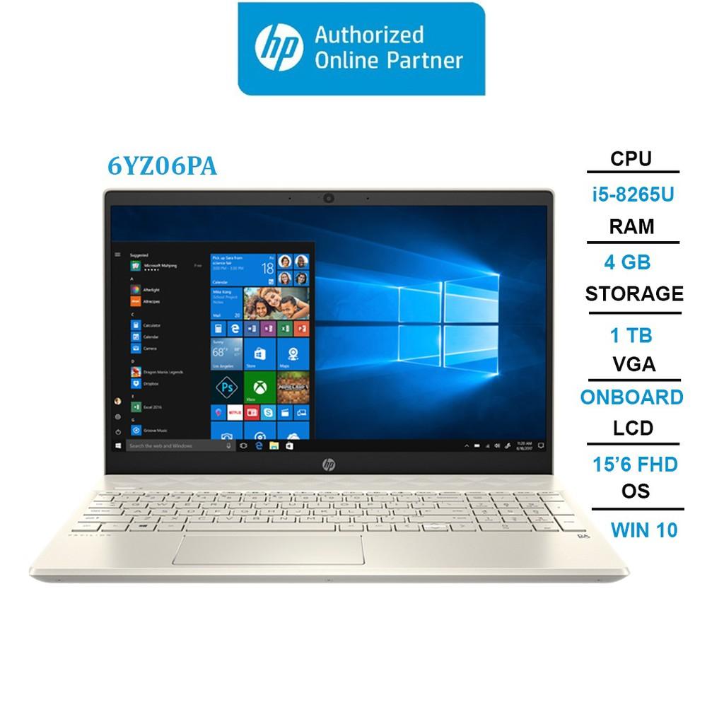 "Laptop HP Pavilion 15-cs2034TU (6YZ06PA) i5-8265U | 4GB | 1TB | Intel UHD Graphics | 15.6"" FHD | Win 10"