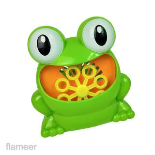 Portable Frog Automatic Bubble Blower Making Machine Camping Picnic Toys