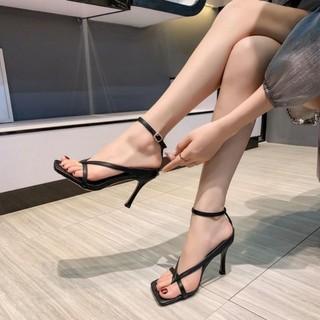 Giày Sandal cao gót 7p xỏ ngón dây mảnh chữ V cá tính siêu hot - mã B5 thumbnail