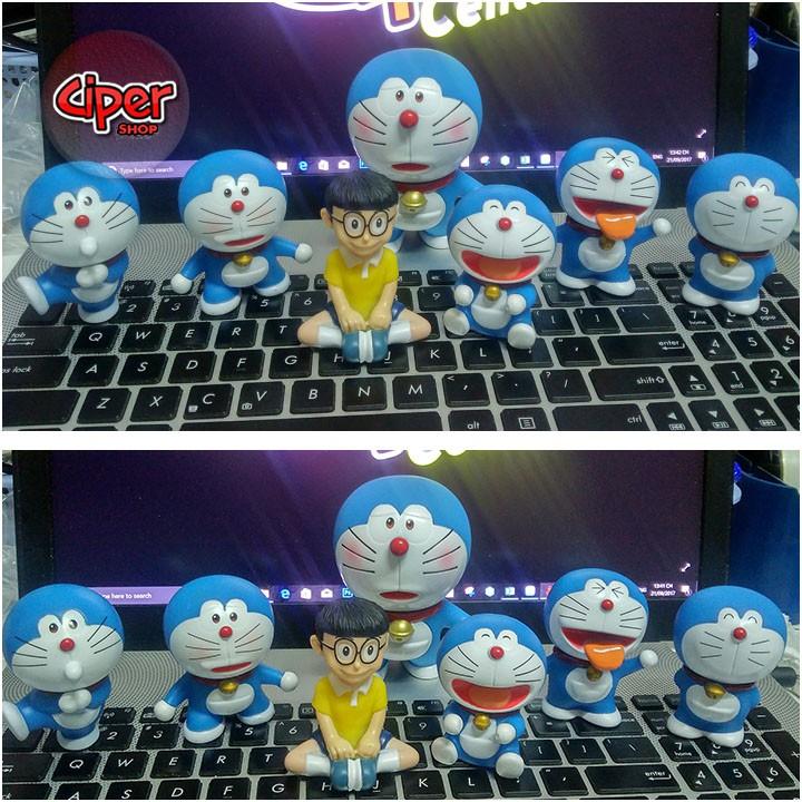Trọn bộ 7 mô hình Doraemon - Mô hình Doraemon