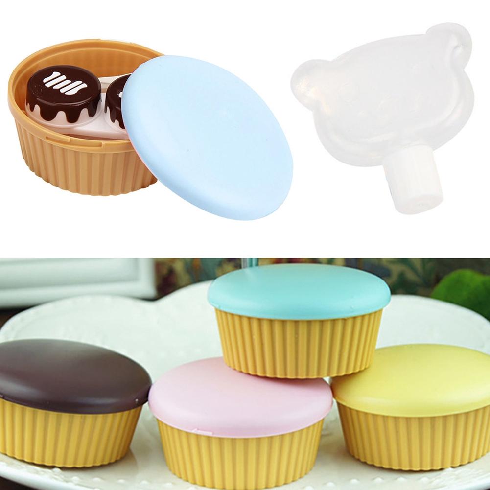 Creative Cute Cake Shape Travel Portable Contact Lenses Container Case