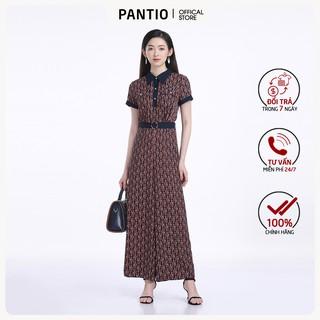 Jumpsuit chất liệu lụa họa tiết dáng suông ngắn tay FJS3079 - PANTIO thumbnail