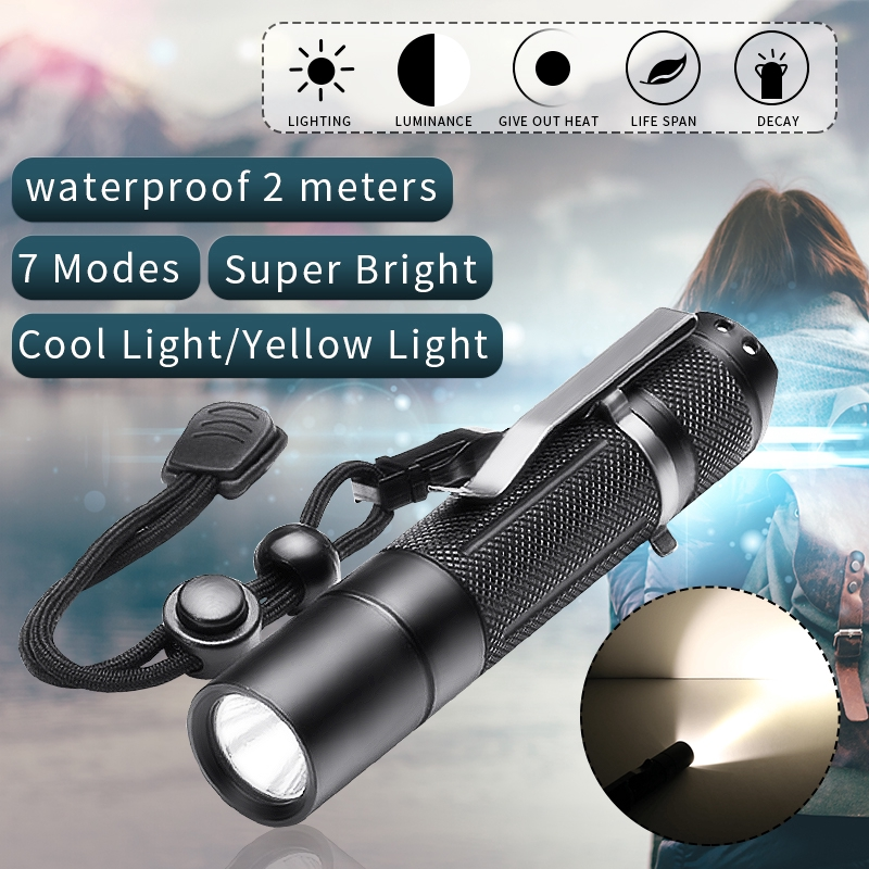 BLF A6 XPL 1600Lumens 7//4modes EDC LED Flashlight 18650