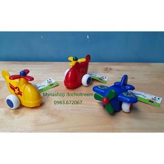 Đồ chơi dành cho bé từ 1 tuổi – Đồ chơi nhựa Vikingtoys Thụy Điển – Bộ 3 máy bay Chubbies: vàng, đỏ, xanh dương