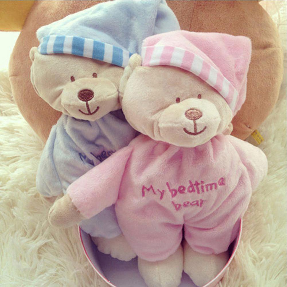 Boys Girls Children Can Be Washed Pink And Blue Lovely Gift Baby Soft Bear PlushToy Velvet Bedtime Doll