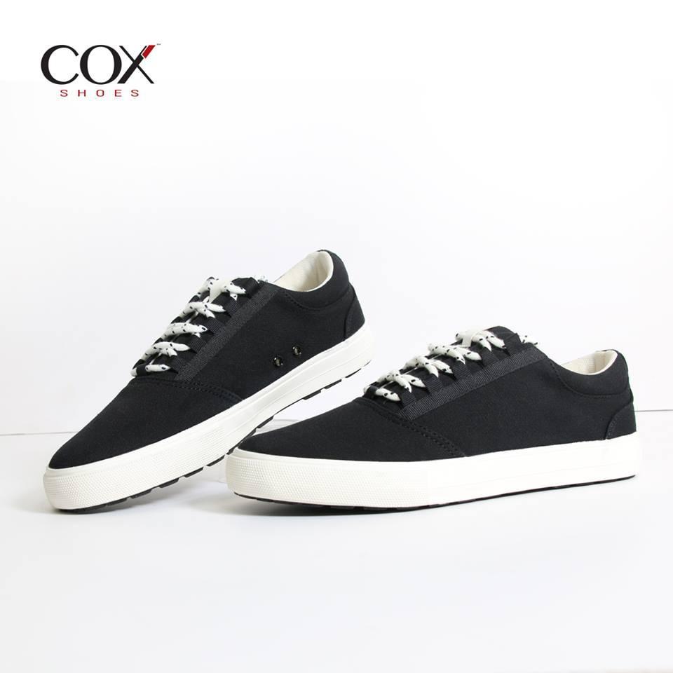 Giày Cox vải nam đen [giày 32]