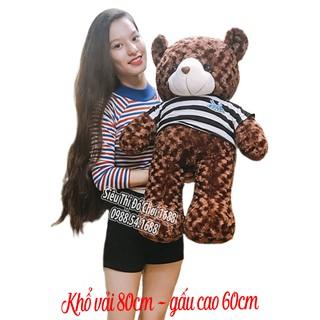 Gấu bông Teddy Cao Cấp khổ vải 1m Cao 80m màu Nâu hàng VNXK – 38