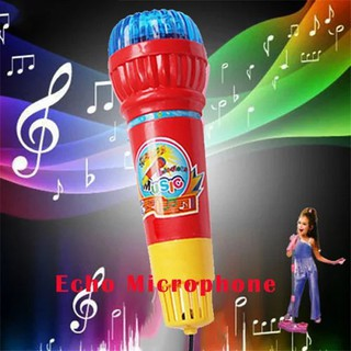 Random Color Echo Microphone Mic Voice Changer Toy Gift Birthday Present
