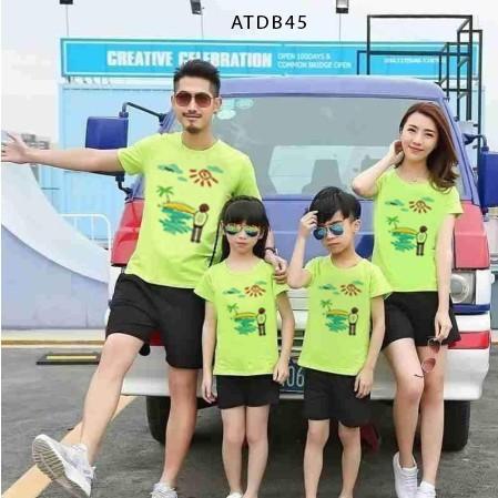 quần áo gia đình hình chipi đi biển siêu đẹp