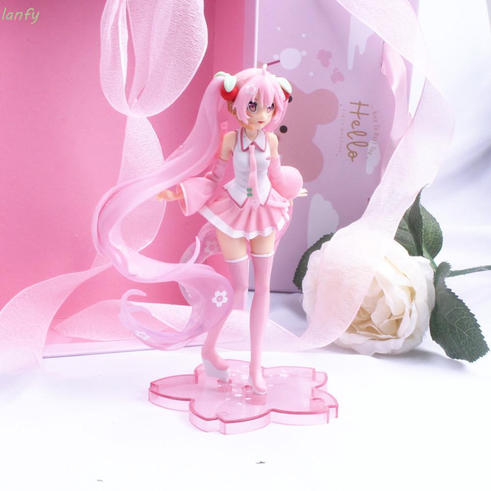 Mô hình nhân vật hoạt hình Miku Hatsune cỡ 14cm dùng trang trí