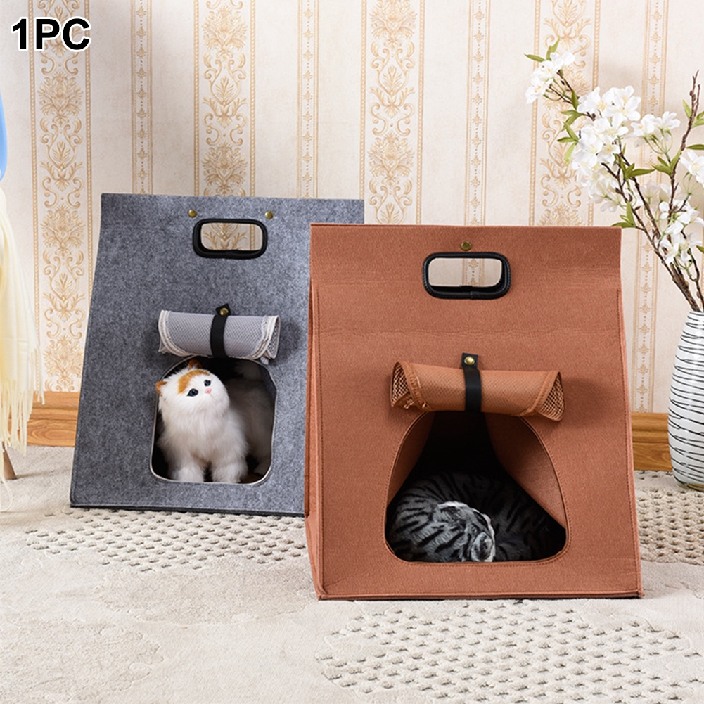 Pet Nest Cat Dog Detachable Washable Portable Breathable Cattery Kennel Tent Outgoing