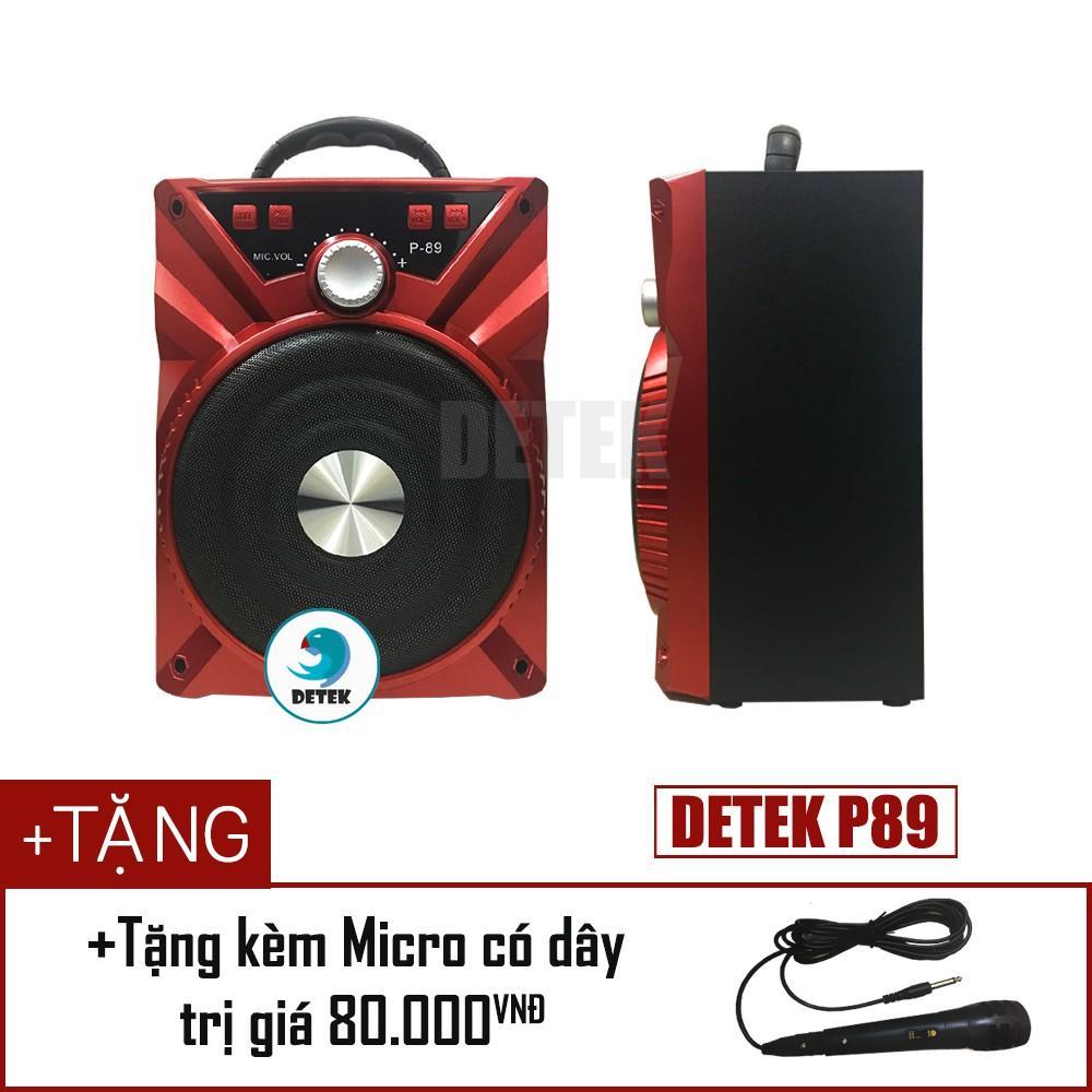 [Giảm thêm 20k – Nhập mã ELCETECH] Loa Bluetooth Daile P88/P89 tặng kèm micro có dây