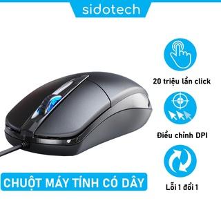 Chuột máy tính có dây SIDOTECH Inphic P20 chính hãng giá rẻ silent tắt âm chống ồn DPI 1200 chơi game cho laptop pc thumbnail