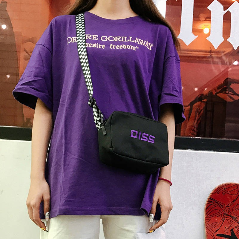กระเป๋าหญิงตารางถุงเล็กถุง messenger ของแบบพกพา