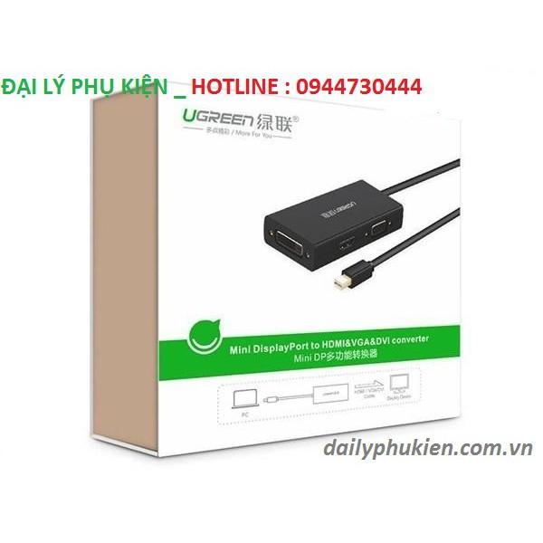 Cáp chuyển đổi Mini displayport to HDMI VGA DVI Ugreen 20418