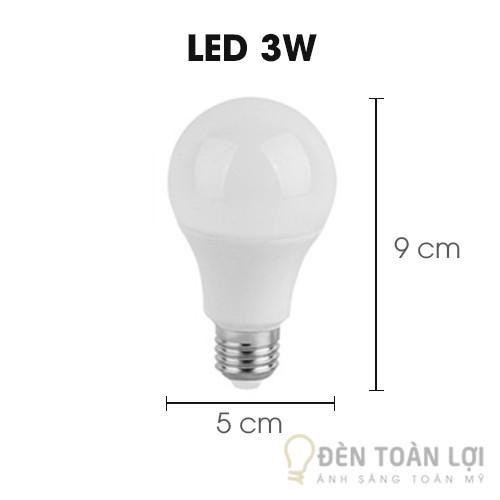 Bóng đèn LED 3W ánh sáng vàng, trắng siêu tiết kiệm đ