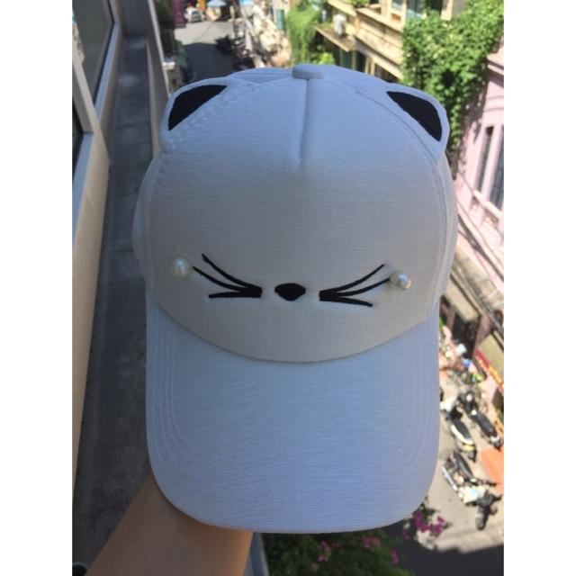 Mũ lưỡi trai mèo siêu kute