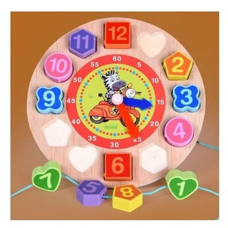 đồng hồ học số – hình khối – xâu hạt