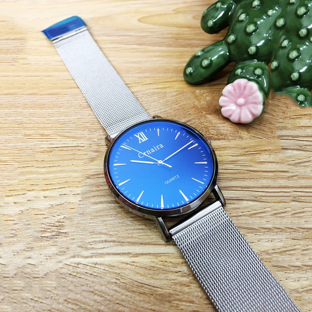 [CHÍNH HÃNG] Đồng hồ nam CRNAIRA dây thép nhuyễn, siêu mỏng chỉ 7mm, kiểu dáng sang trọng