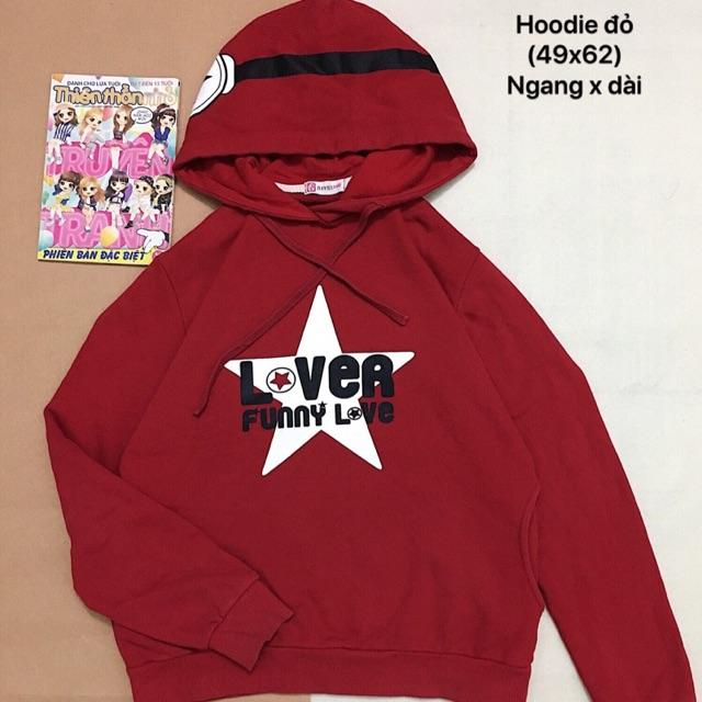 Áo hoodie đỏ đẹp