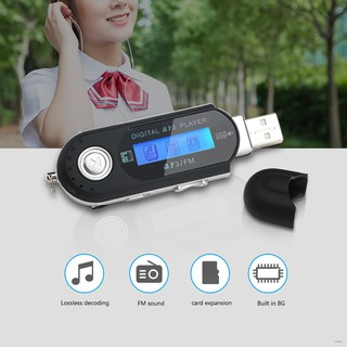 Portable Mini USB Flash LCD Digital MP3 Player Support Flash 32GB TF Card Slot Music Player FM Radio