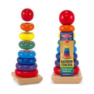 Xếp chồng tháp gỗ 7 màu LOẠI TO