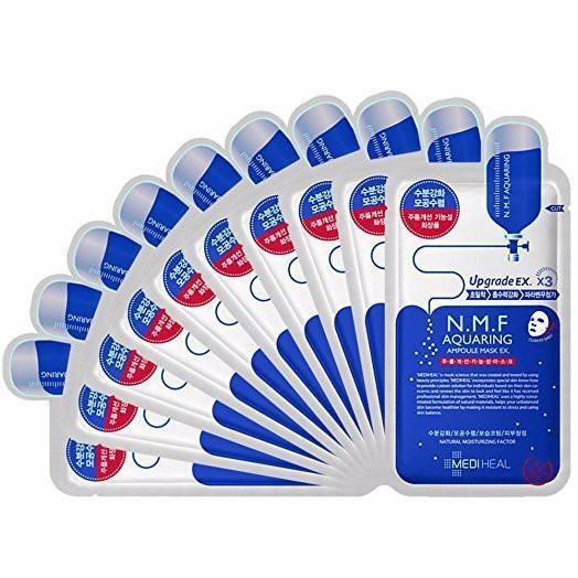 Hộp 10 miếng Mặt nạ dưỡng ẩm, kiềm dầu Mediheal N.M.F Aquaring Ampoule Mask 25ml ( Bảo đảm chính hãn
