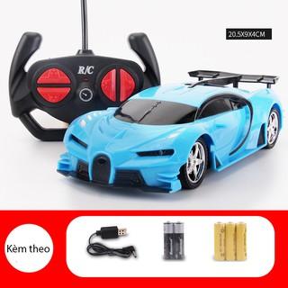 Xe ô tô điều khiển từ xa 4 hướng Bugatti Veyron, đầy đủ pin, sạc