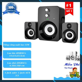 Loa Máy Tính Laptop Giá Rẻ Có Dây Bass PKCB 201 Speakers PF94